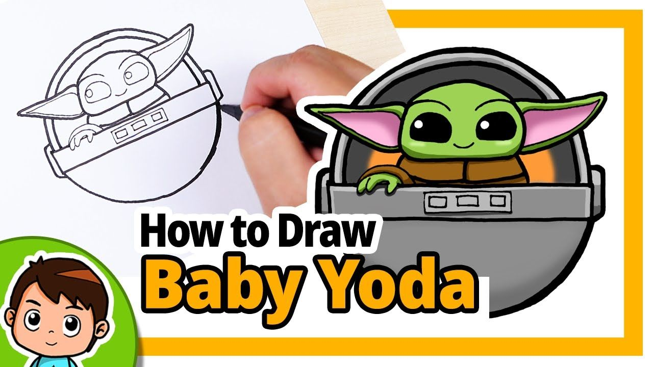 How To Draw Baby Yoda In Space Pod Star Wars Step By Step Drawing Tu Baby Drawing Yoda Drawing Step By Step Drawing