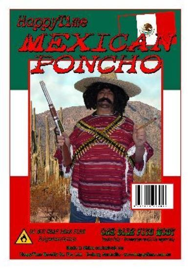 Adult Mexican Poncho Costume Pk 1