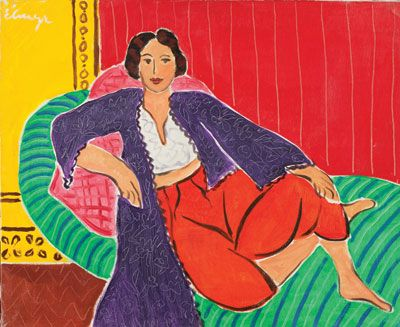 """De Hory in the style of Matisse: Odalisque (above) is an """"original"""" Elmyr de Hory. COLLECTION OF MARK FORGY"""