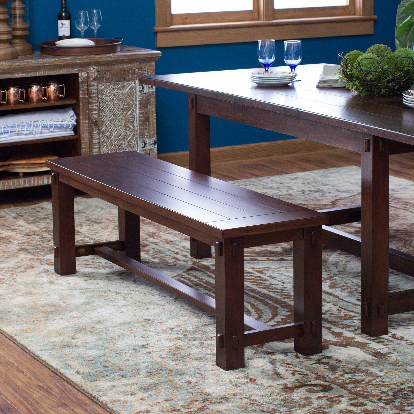 Surprising Belham Living Bartlett Dining Bench From Hayneedle Com Dailytribune Chair Design For Home Dailytribuneorg