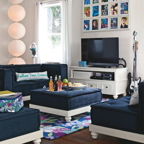 PB Teen - awesome sectional for lounge area in kids room. These can sit on : pb teen sectional - Sectionals, Sofas & Couches