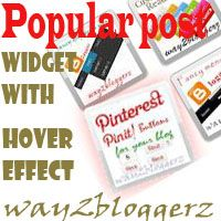 popular post widget with thumbnail hover effect