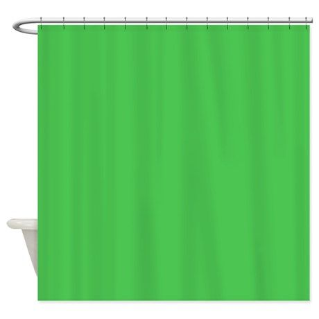 Solid Kelly Green Shower Curtain By The Shower Curtain Green