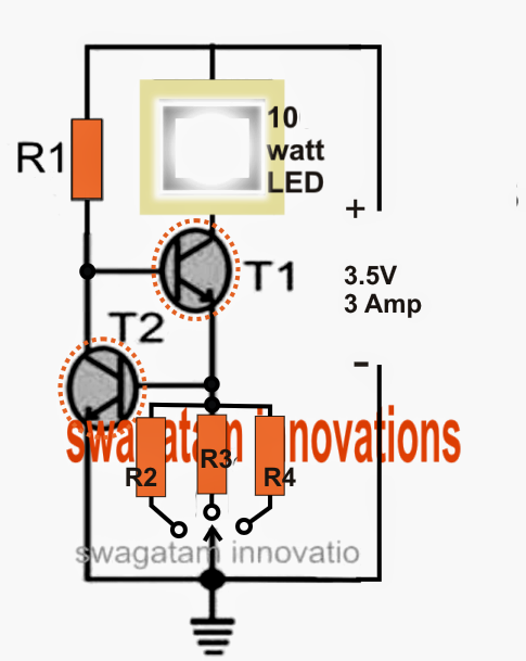 The Post Details How To Build A Simple Current Controlled Cree Xm L T6 Led Using An Lipo Or Li Electronic Circuit Projects Electronics Circuit Circuit Projects