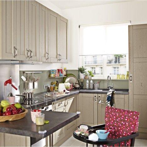 meuble de cuisine delinia, composition type mystral, imitation