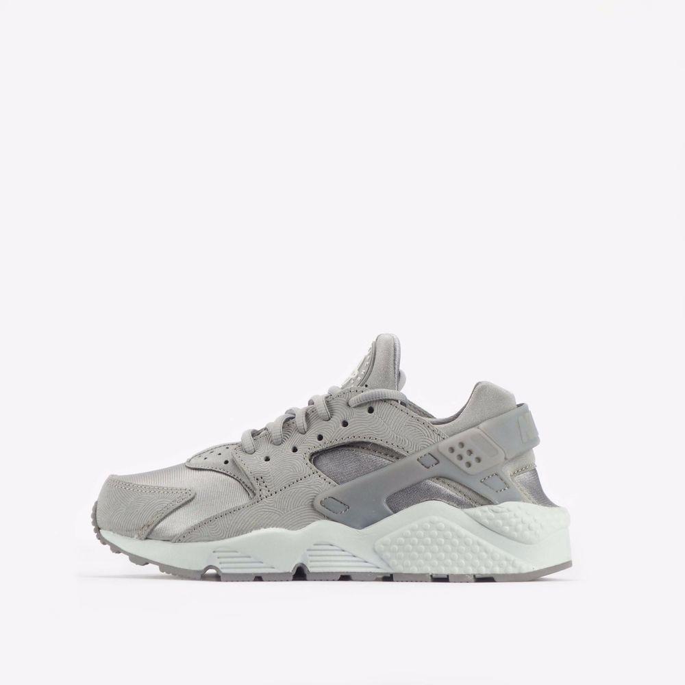 90e4fa7dad12 Nike Air Huarache Run Premium Suede Women s Shoes Medium Grey  Nike   CasualTrainers