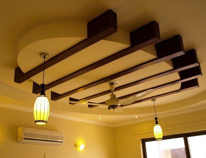 25 Elegant Ceiling Designs For Living Room | Pop false ...