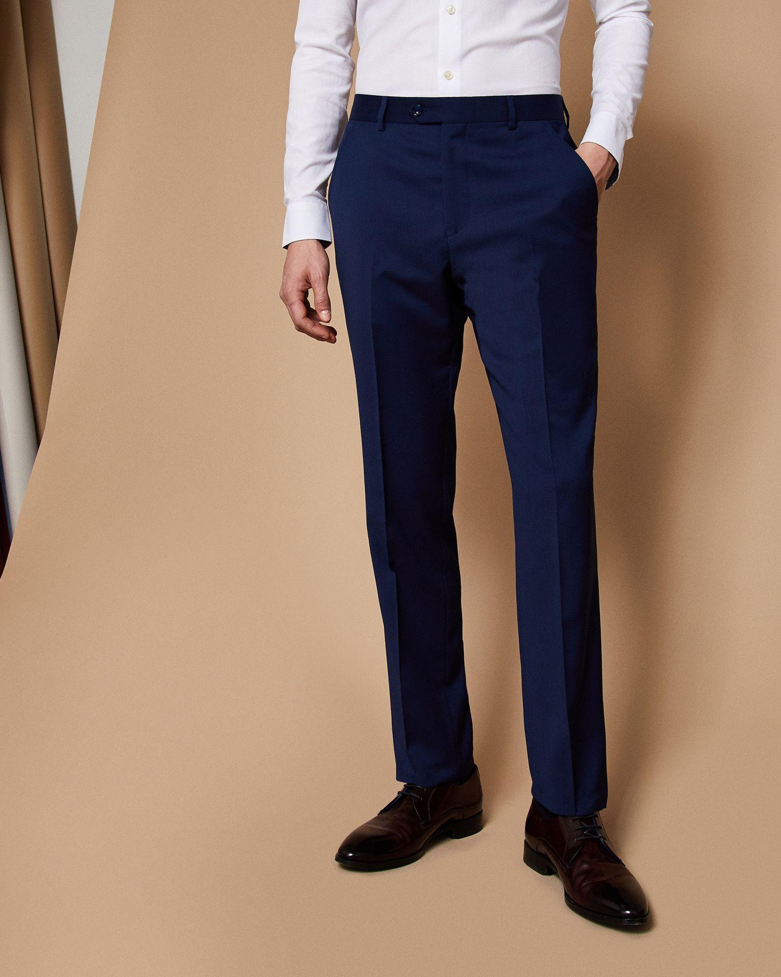 5b0ffc8d Ted Baker Debonair plain wool suit trousers Navy   Products in 2019 ...