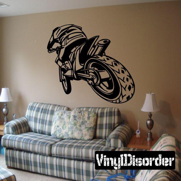 Dirt Bike Motocross Wall Decal   Vinyl Decal   Car Decal   DC 014 Part 85