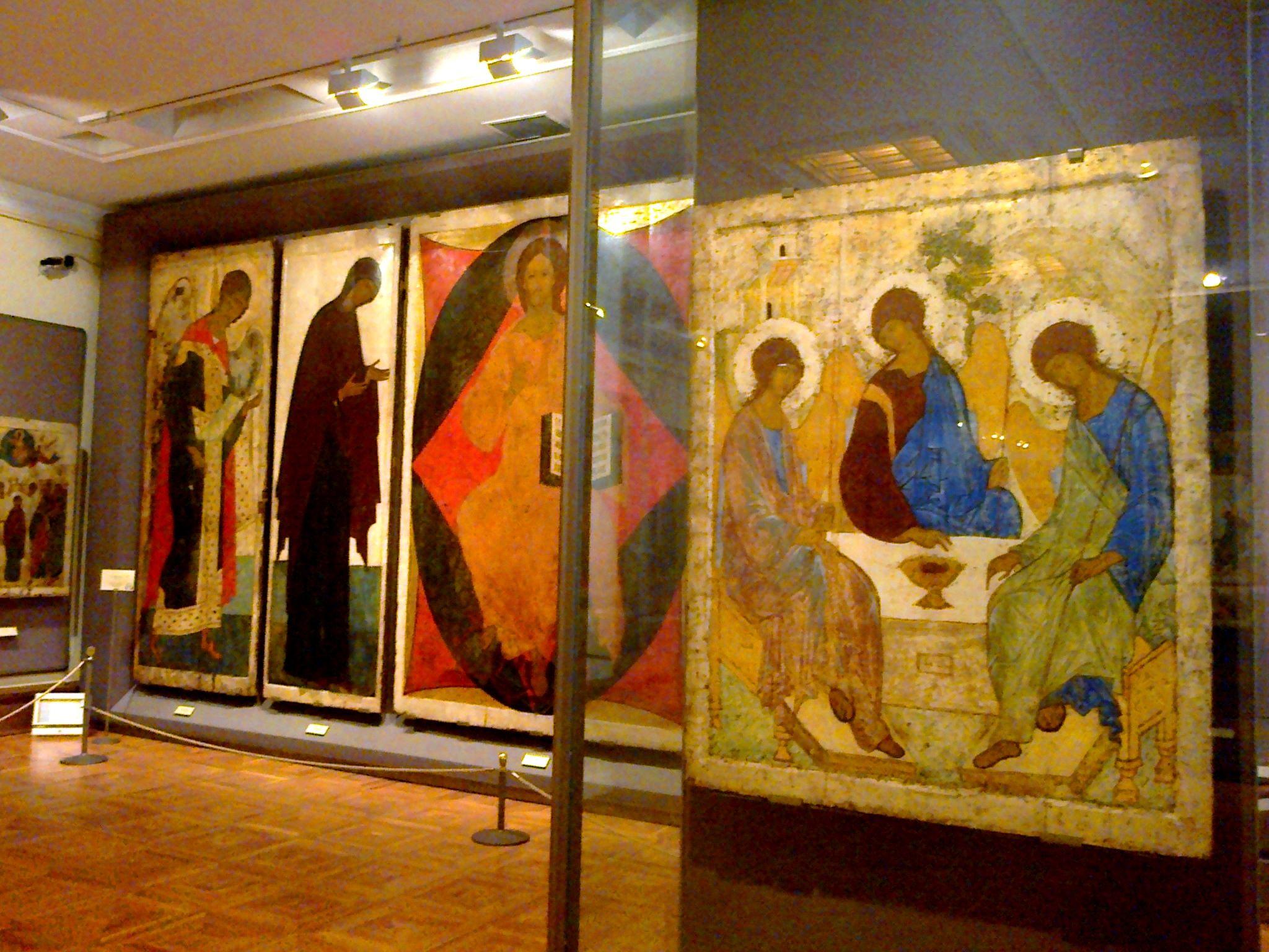 St. Andrei Rublev' Icons Locked Tretyakov Orthodox Byzantine
