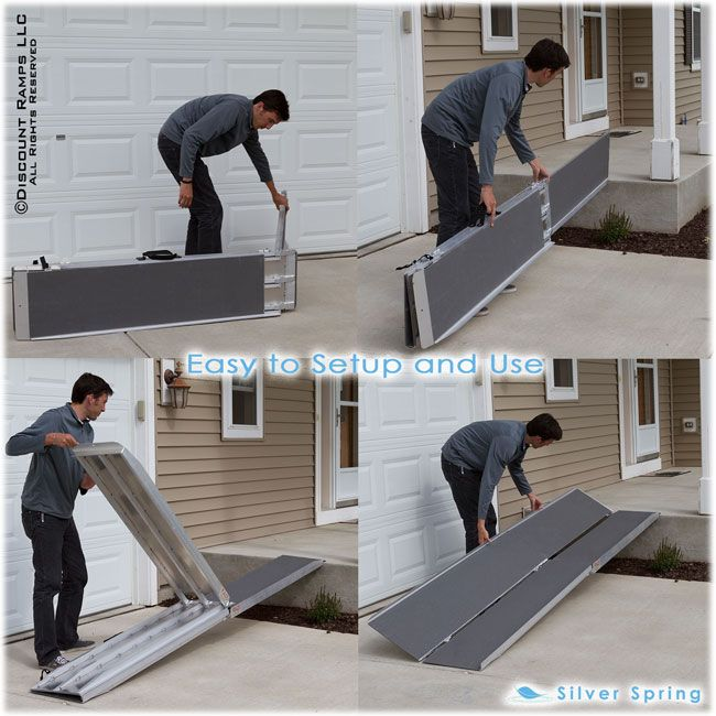 Portable Scooter Ramp From Ramps Is Perfect For Wheelchair Or Chair Access Over Stairs Loading Into A Van Minivan