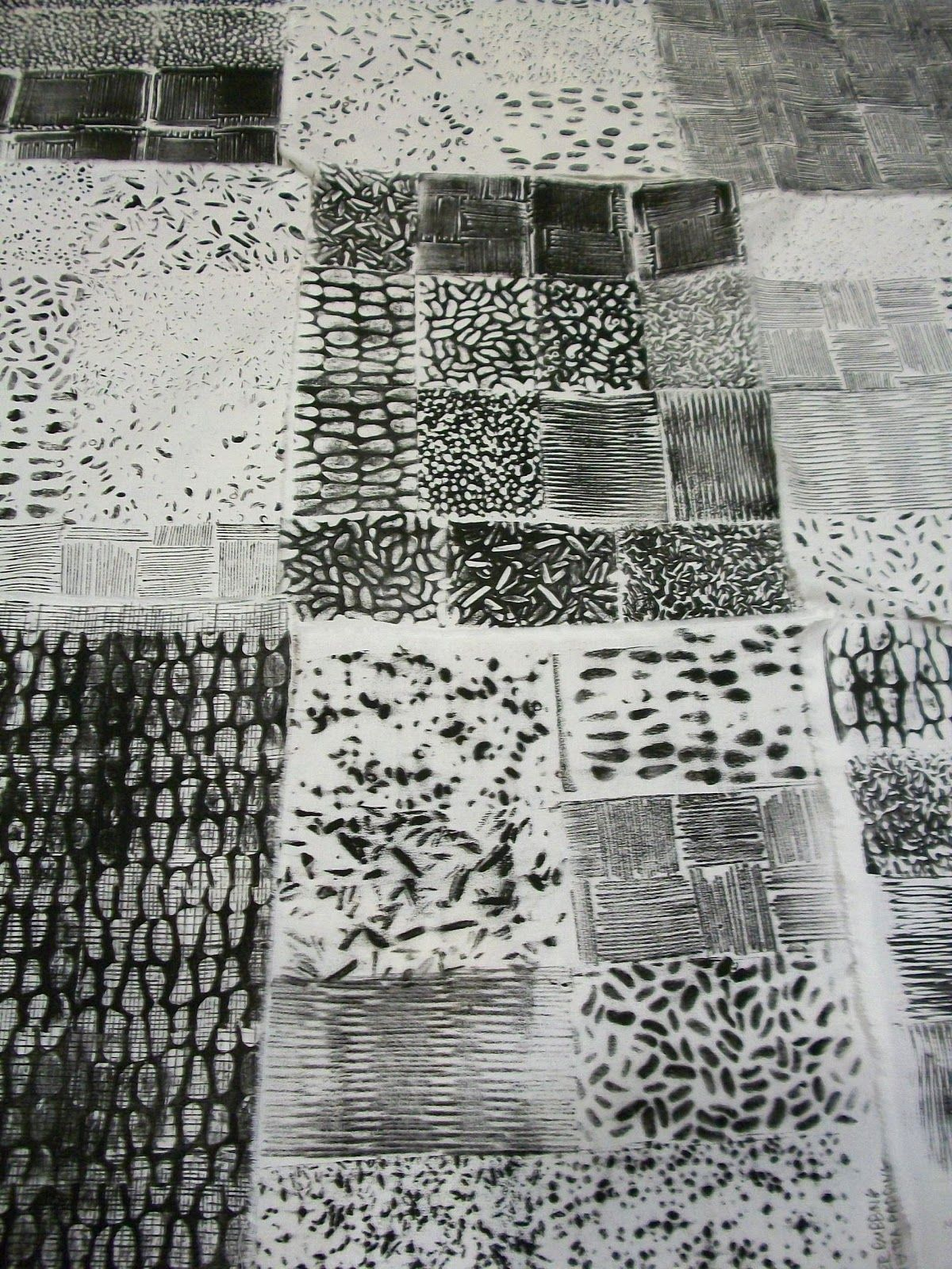 Julie B Booth: More Black & White: Texture Samplers #surfacedesign