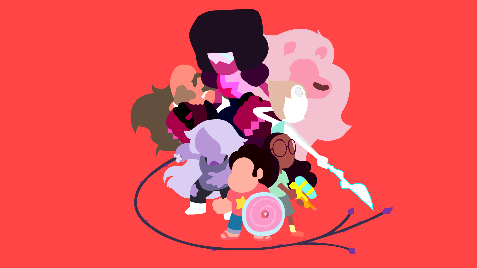 Just Made This Steven Universe Minimalist Background 1920 X 1080 Need IPhone 6S Plus Wallpaper For IPhone6SPlus