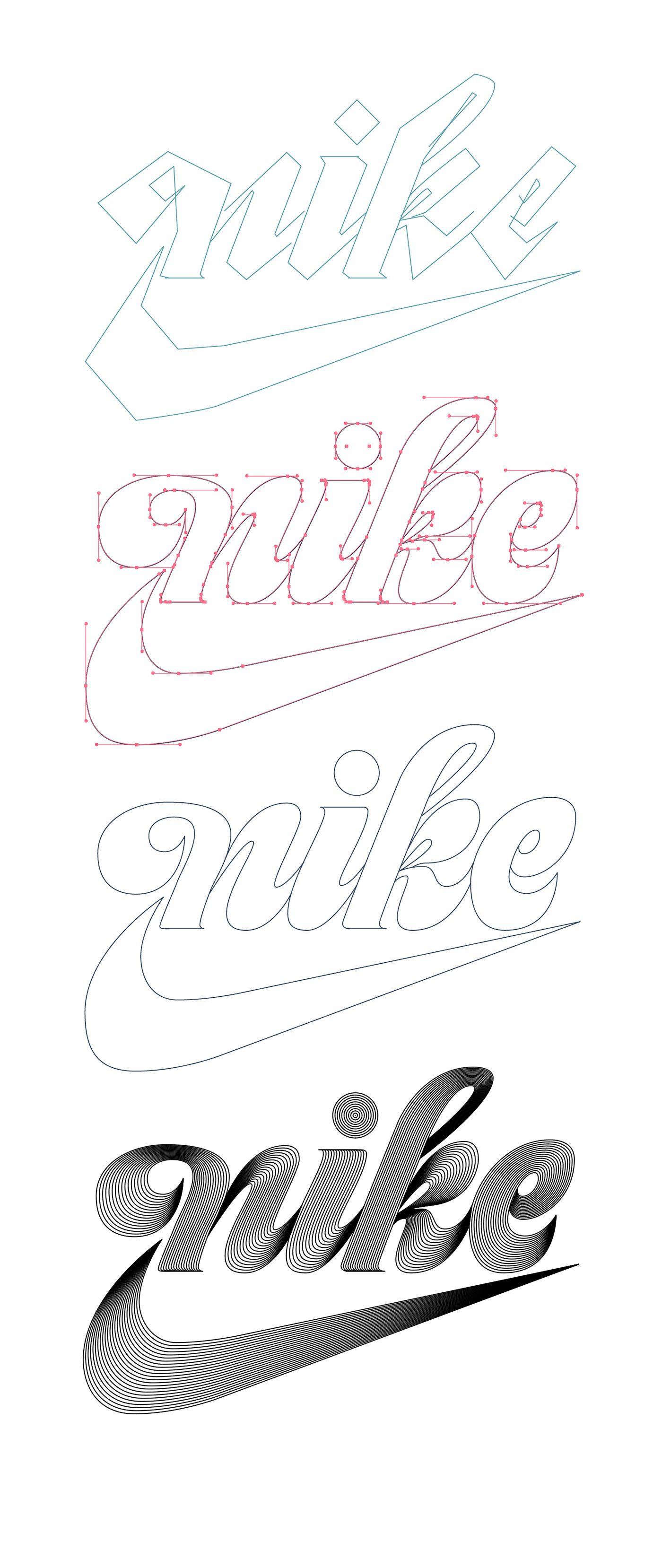 Nike Vintage Logo Vector Process Video On Behance Buzo