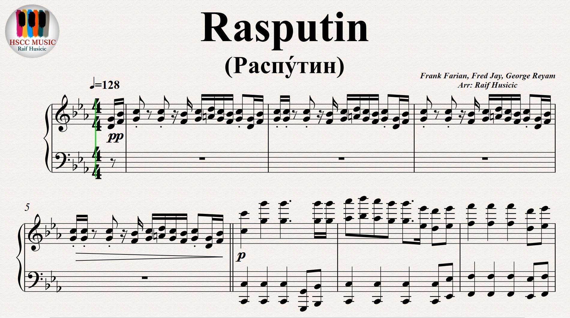 Rasputin Raspu Tin Boney M Piano Musique Culture