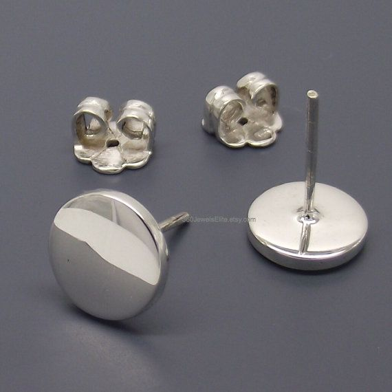 Fake Plug Gauge Earrings White Studs 14 16 18 Custo