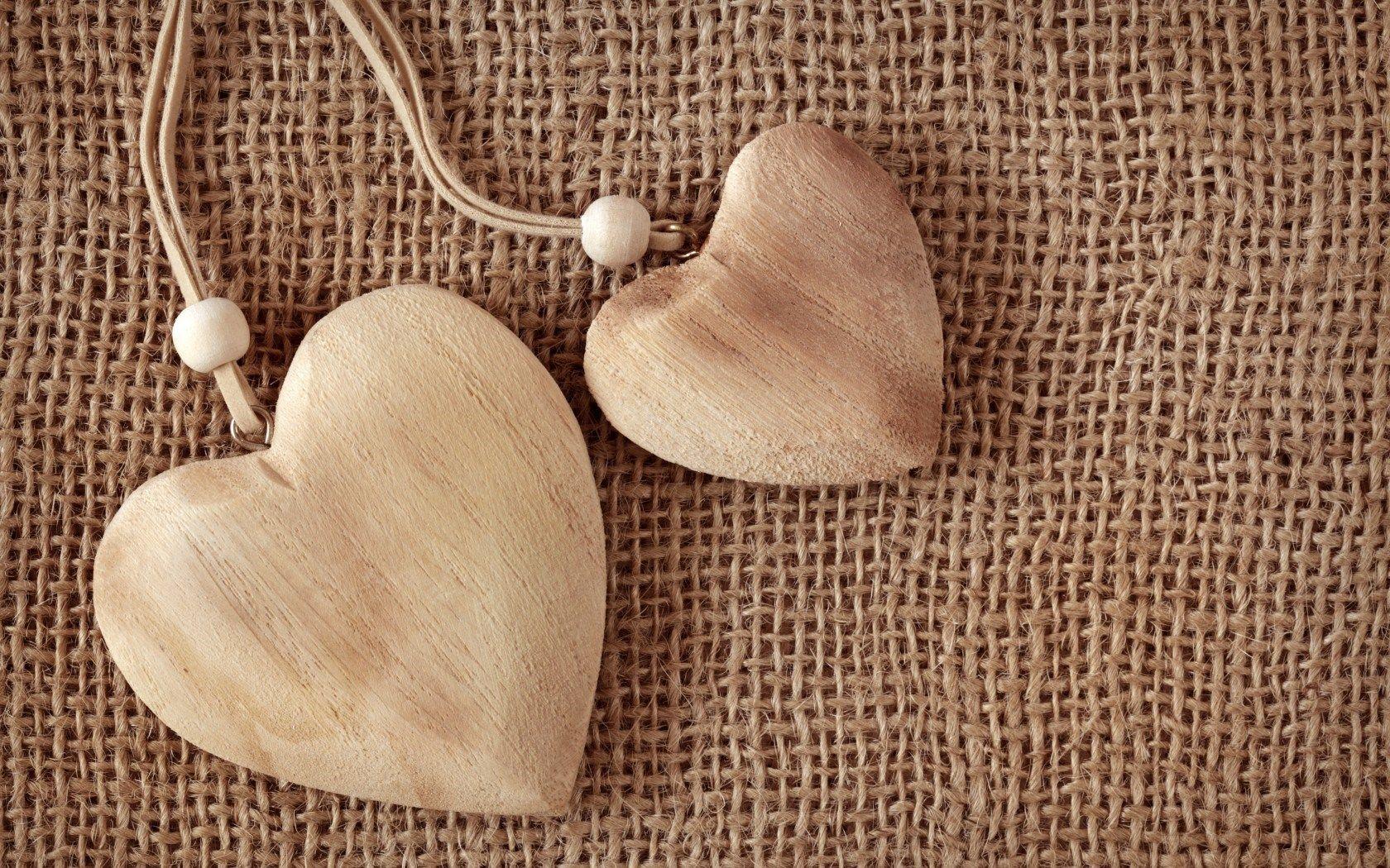 Corações Madeira