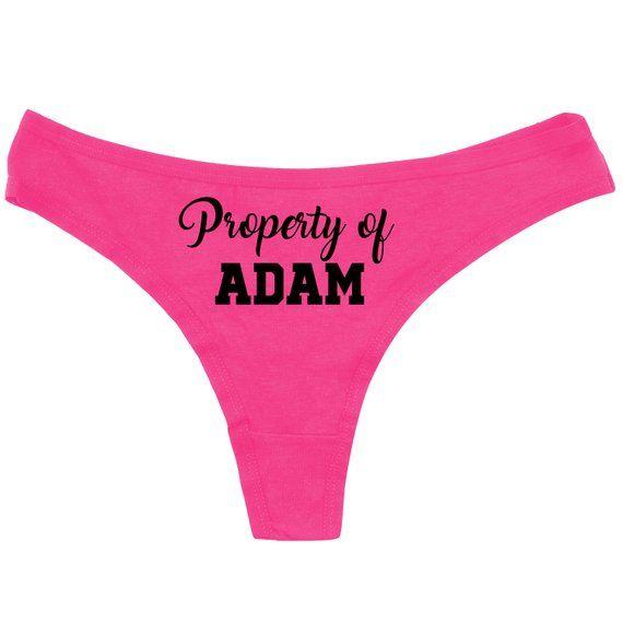 d67c1e3d3c0 Property Of Panties - Custom Panties - Funny Panties - Bridal Shower ...