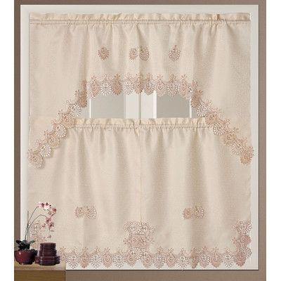 daniels bath royal kitchen curtain set color peach products