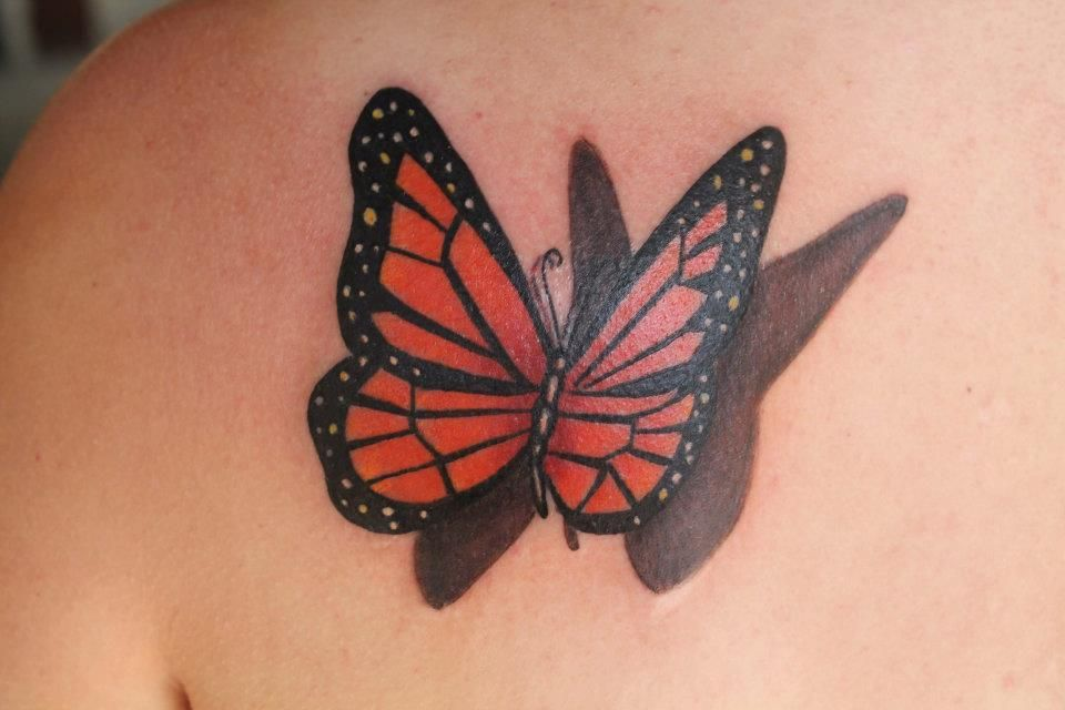 Butterfly With Shadow Tattoo The Best I Have Seen Artist