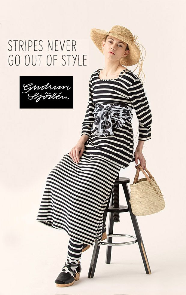 Gudrun's Black and white mixes and matches together and with other more colorful items. SUMMER 2016