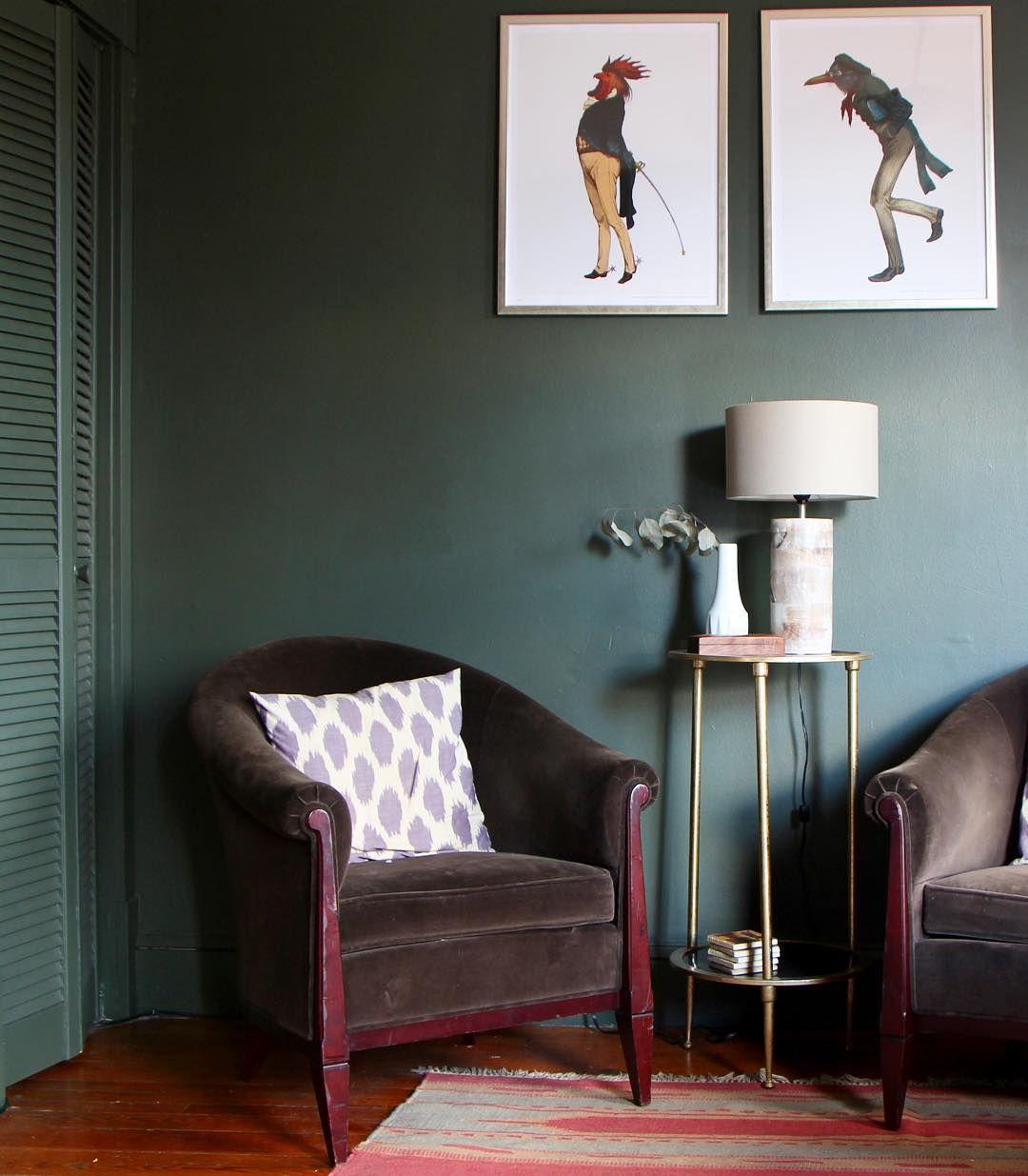 Benjamin Moore Vintage Vogue Living room paint, Green
