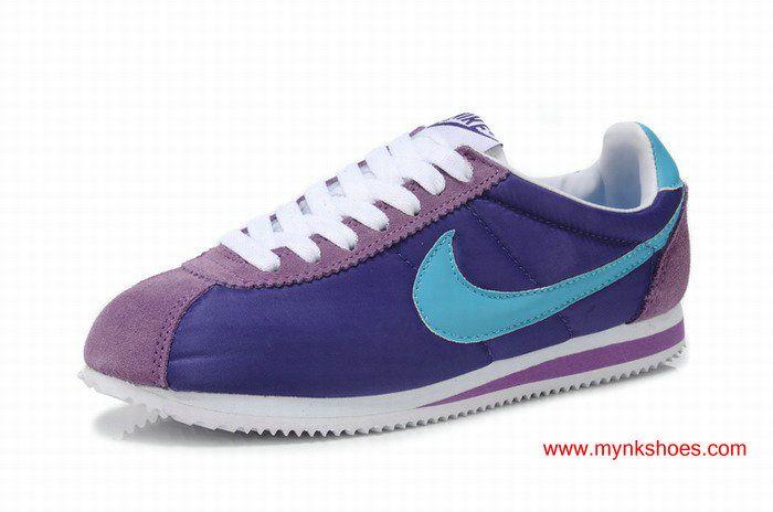 36340341353f Nike Classic Cortez Womens Nylon Purple Jade-green Shoes Nike Cortez Shoes