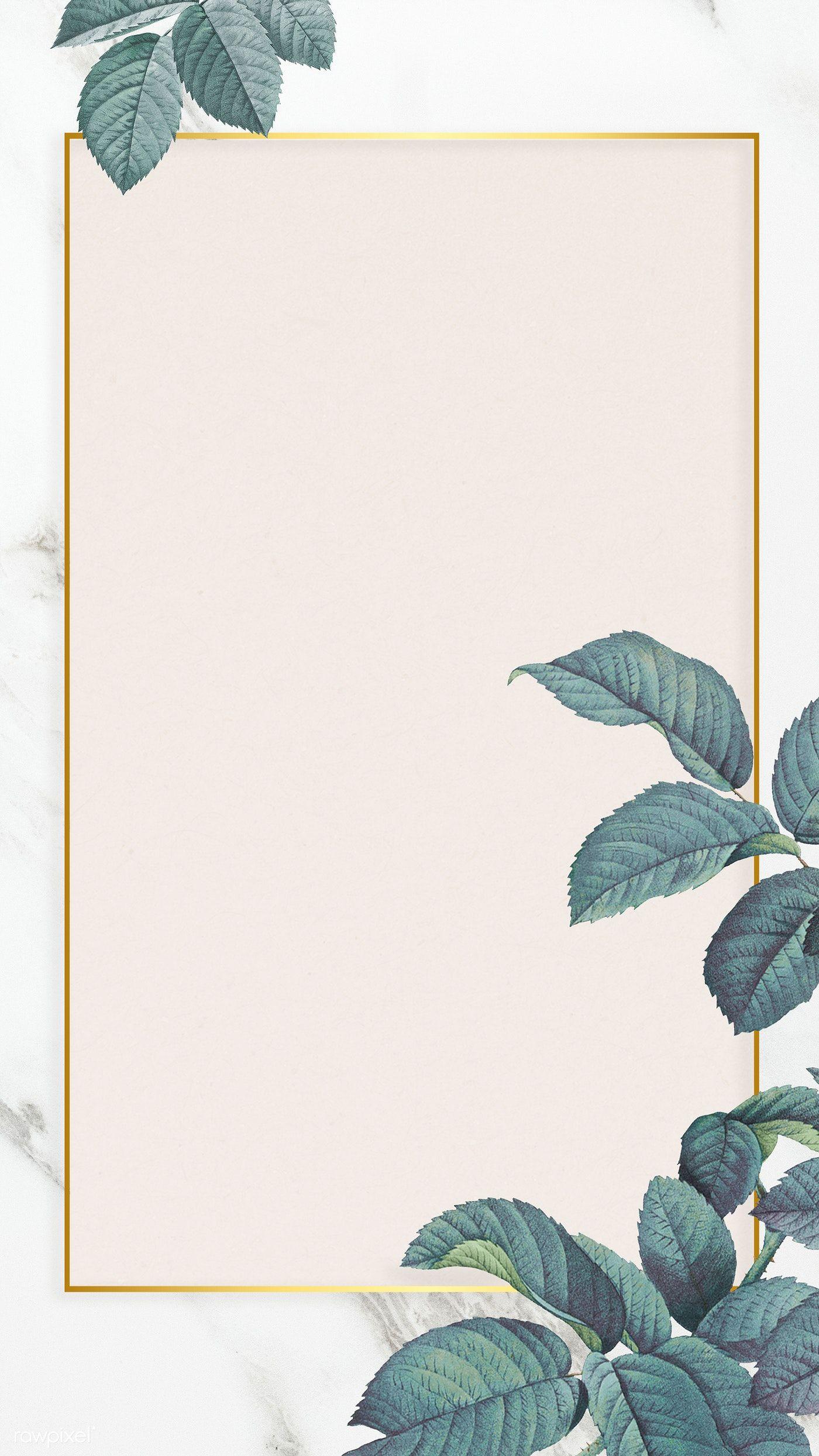 Download Premium Illustration Of Green Leaf Element Background