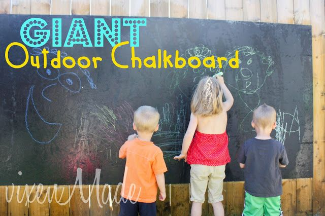 How to make a Giant Outdoor Chalkboard Heaven Must Have Sent You