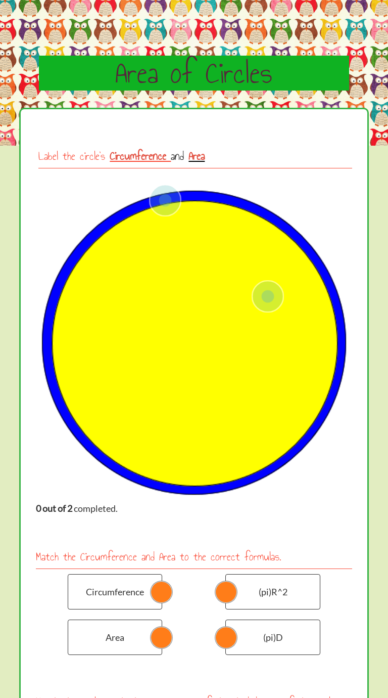 Area Of Circles Worksheet Learning Worksheets Free Math Worksheets Math Worksheets [ 1380 x 768 Pixel ]