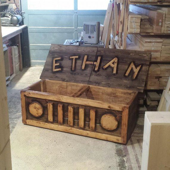 Superb Wood Art Chest Toy Storage Box Bench Dark Walnut Burnt Machost Co Dining Chair Design Ideas Machostcouk