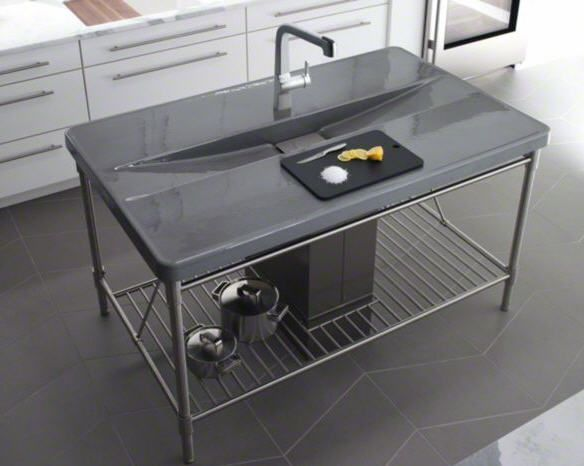 Industrial Chic Look With Sink Which Is Integrated Into A Metal