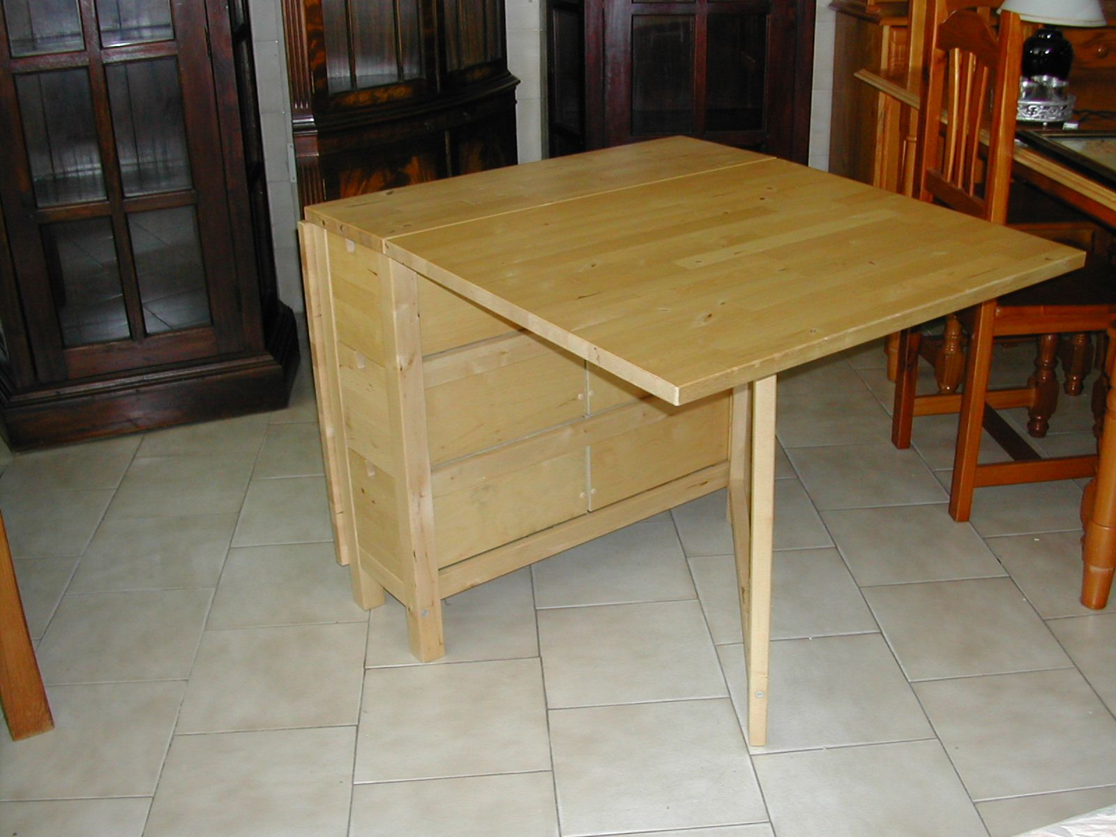 fold up dining room tables | Useful folding ikea table - I want to convert my existing ...