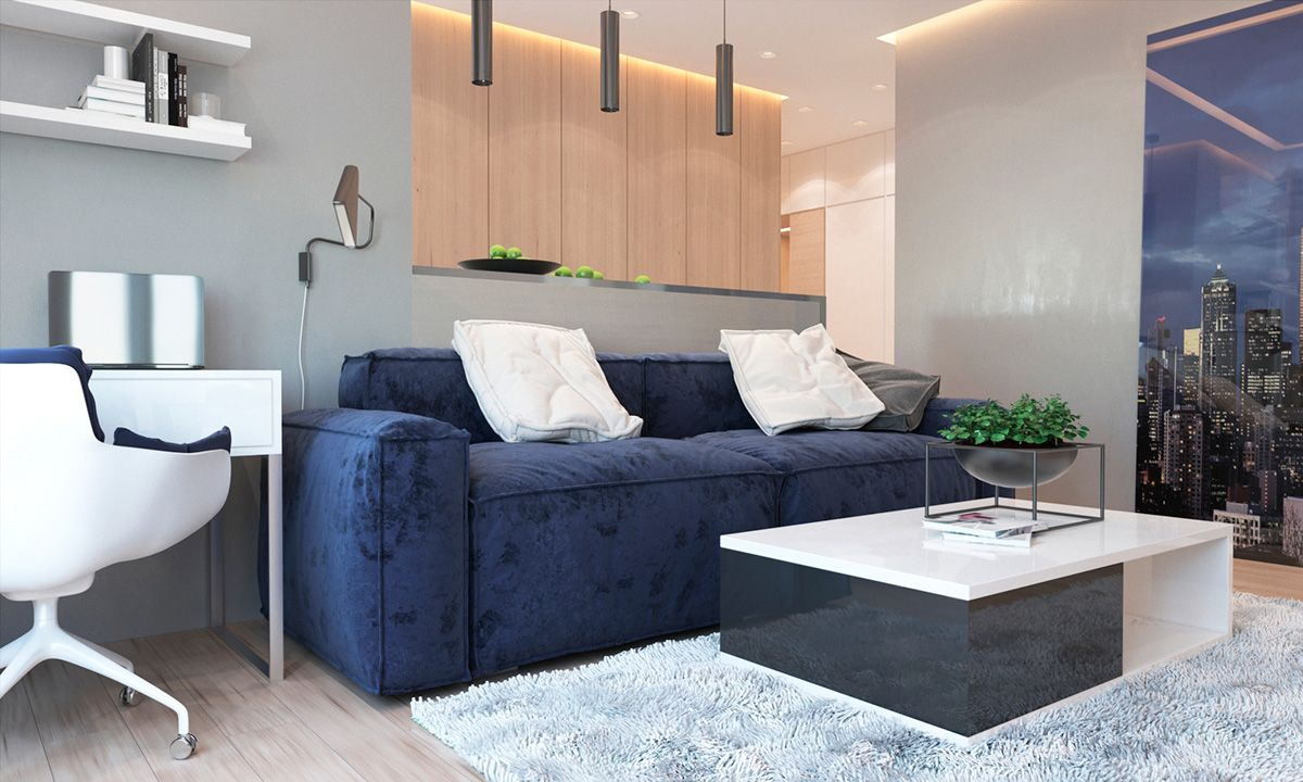 2 One Bedroom Apartments With Modern Color Schemes Modern Apartment Furniture Modern Apartment Decor Modern Apartment Design