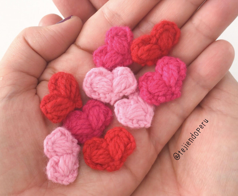Tejido Amigurumi Tutorial : Paso a paso: mini corazones de #sanvalentin tejidos a crochet con