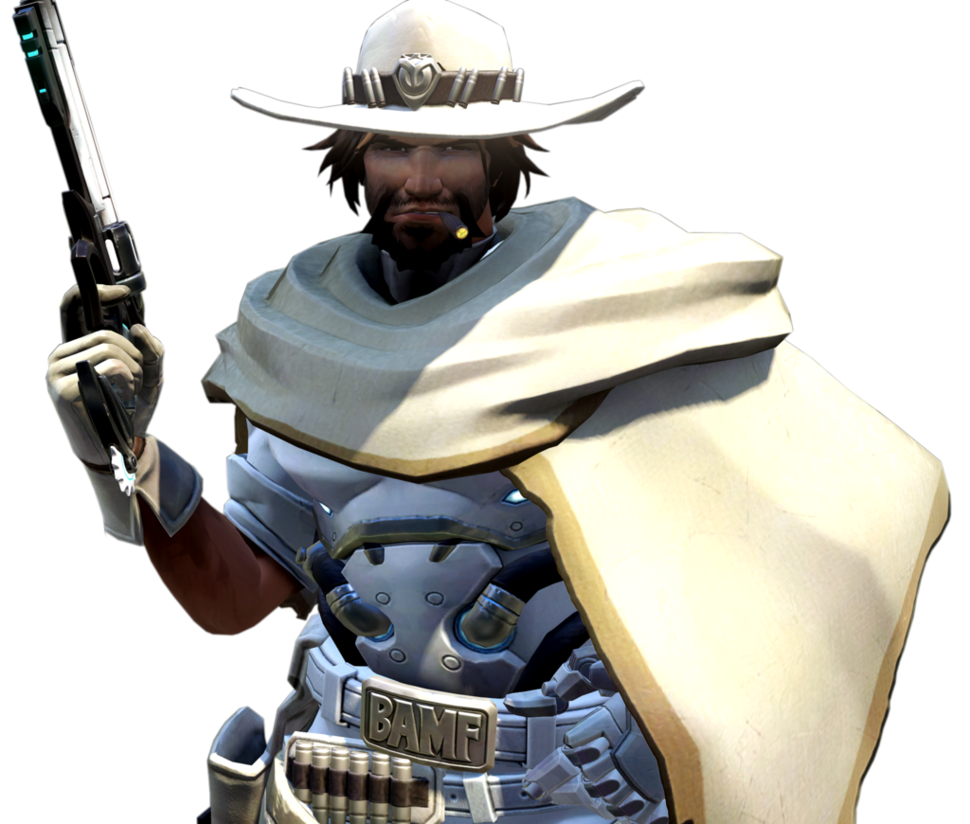 Overwatch White Hat Mccree Render By Popokupingupop90 Mccree Overwatch Mccree Overwatch