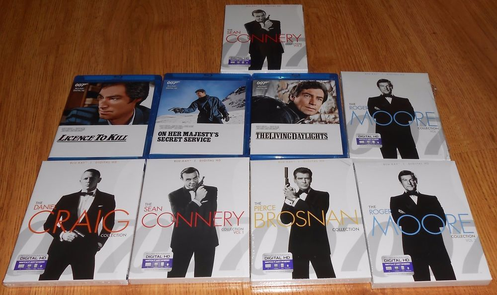 Lot Of James Bond Blu Ray Discs Roger Moore Collection Sean