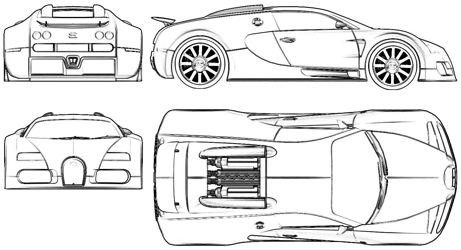 Bugatti Veyron Part Coloring Page