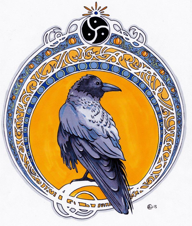 Art Nouveau Raven Art Nouveau Illustration Art Nouveau Tattoo Art Nouveau Design