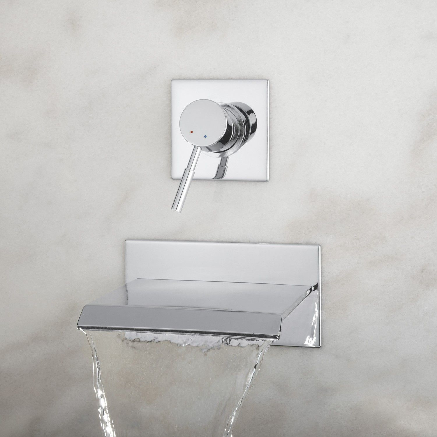 Wall mount faucet bathroom - Lavelle Wall Mount Waterfall Tub Faucet