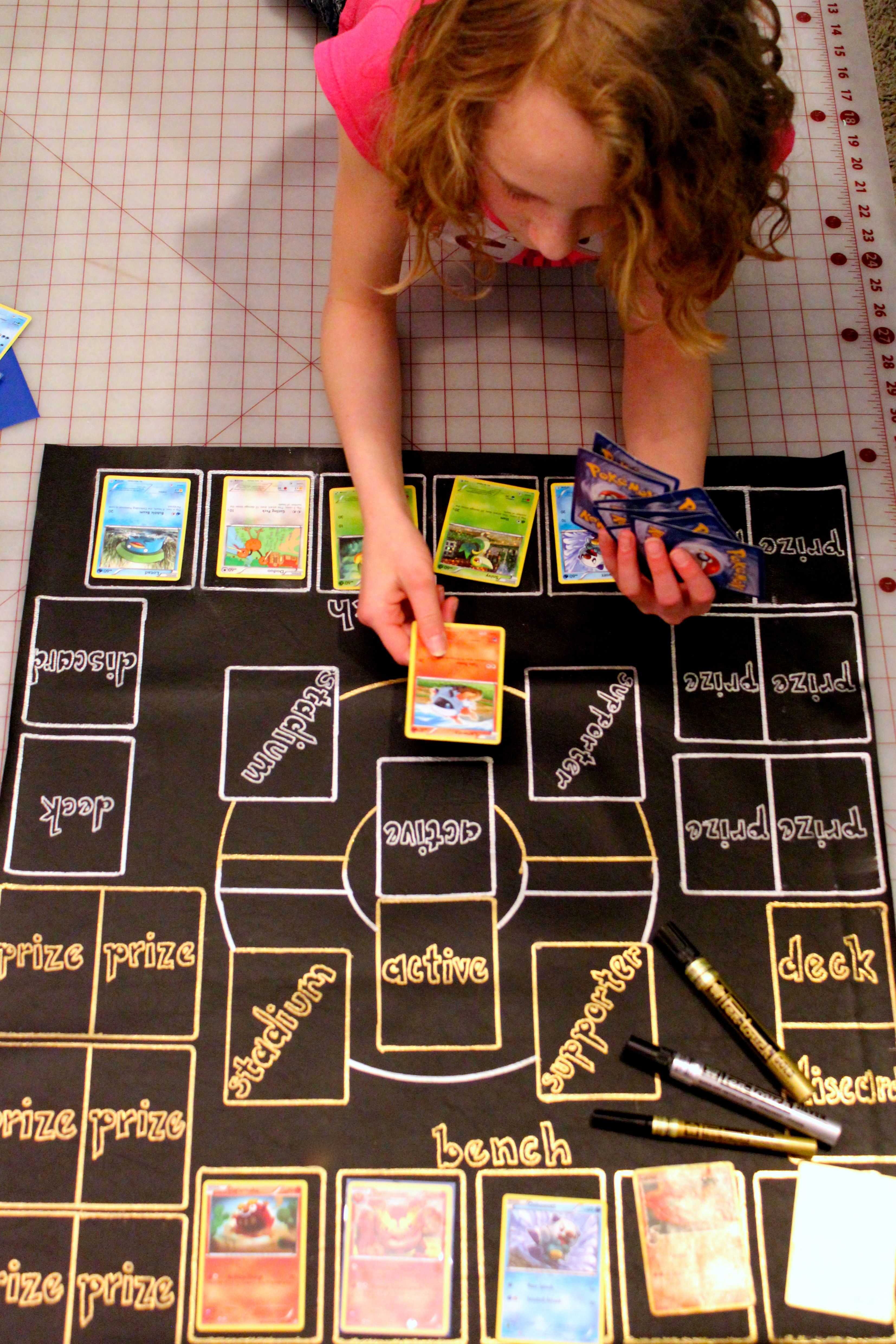 Diy Pok 233 Mon Play Mat Created With Sakura Pentouch Markers On Vinyl Diy Fun Kid Projects