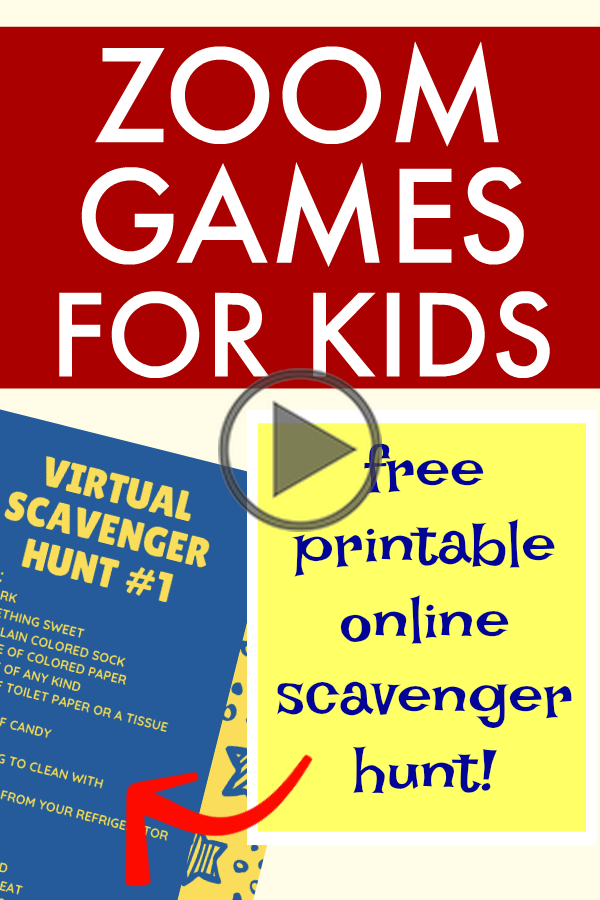 Virtual Scavenger Hunt for Kids with Free Indoor Scavenger