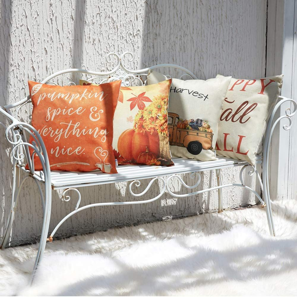 Fall diy home decor ideas pillow covers autumn theme farmhouse decorative phrow  inch for thanksgiving decoration also best images in rh pinterest