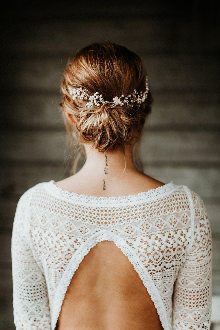 Neue Brautfrisuren für lange Haare #brautblume