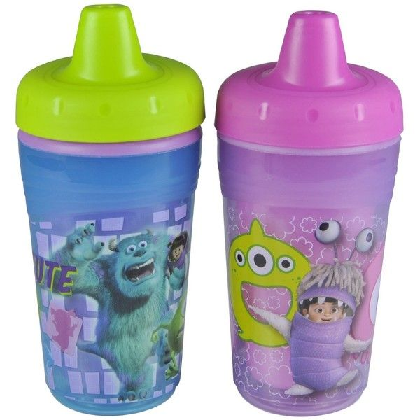 The First Years Monsters Inc Insulated Sippy Cups 2 Pack 9 Months Disney Cups Sippy Cup Baby Bottles