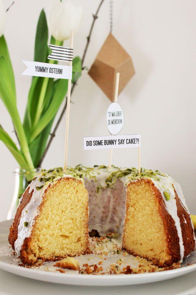 Einfaches Rezept für einen Eierlikör-Gugelhupf, ein schneller Kuchen für Ostern, im Frühling oder als Sommerkuchen, von www.partystories.de