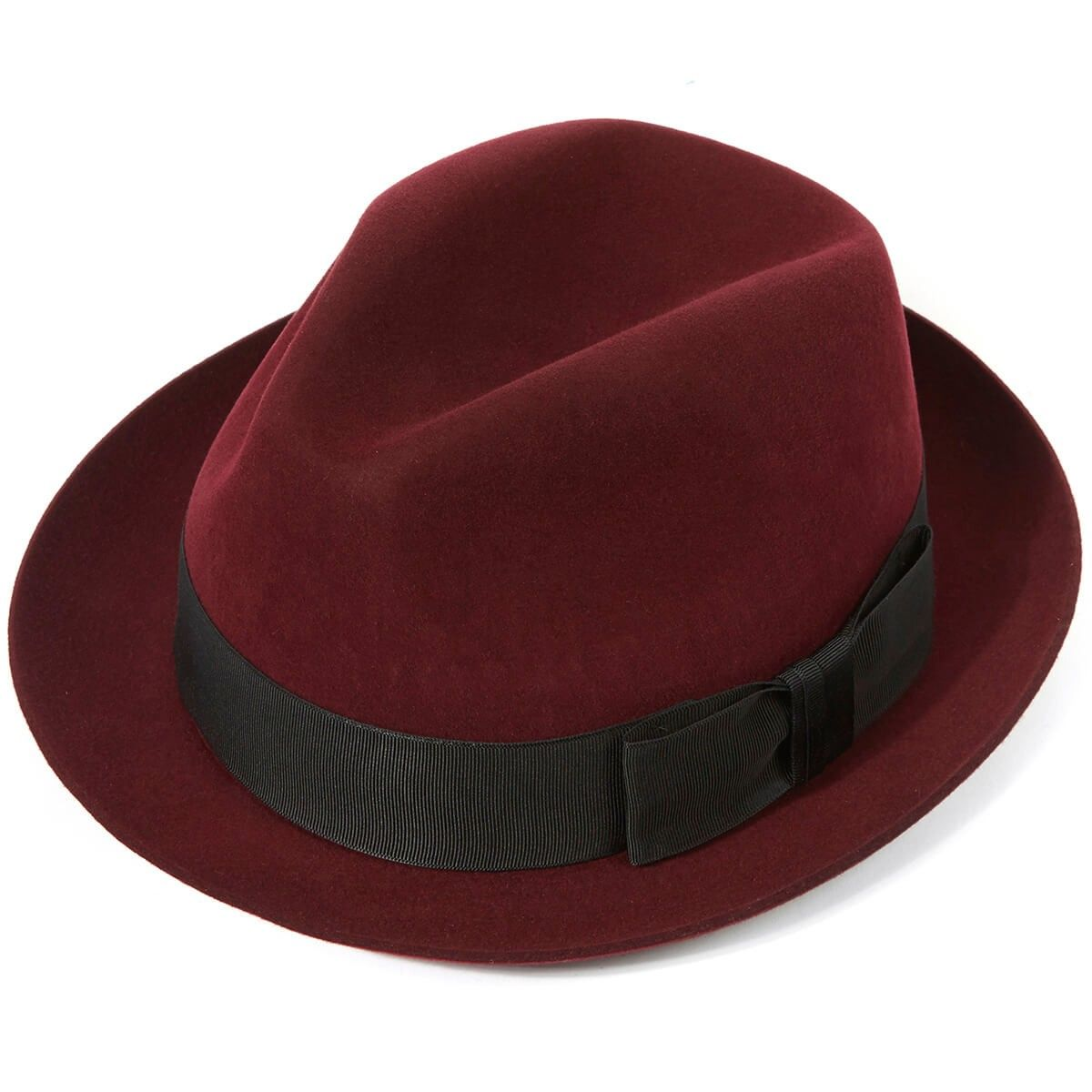Child Toddler Trilby Fedora Hat BROWN SMALL CHECK WITH RED BAND summer occasion