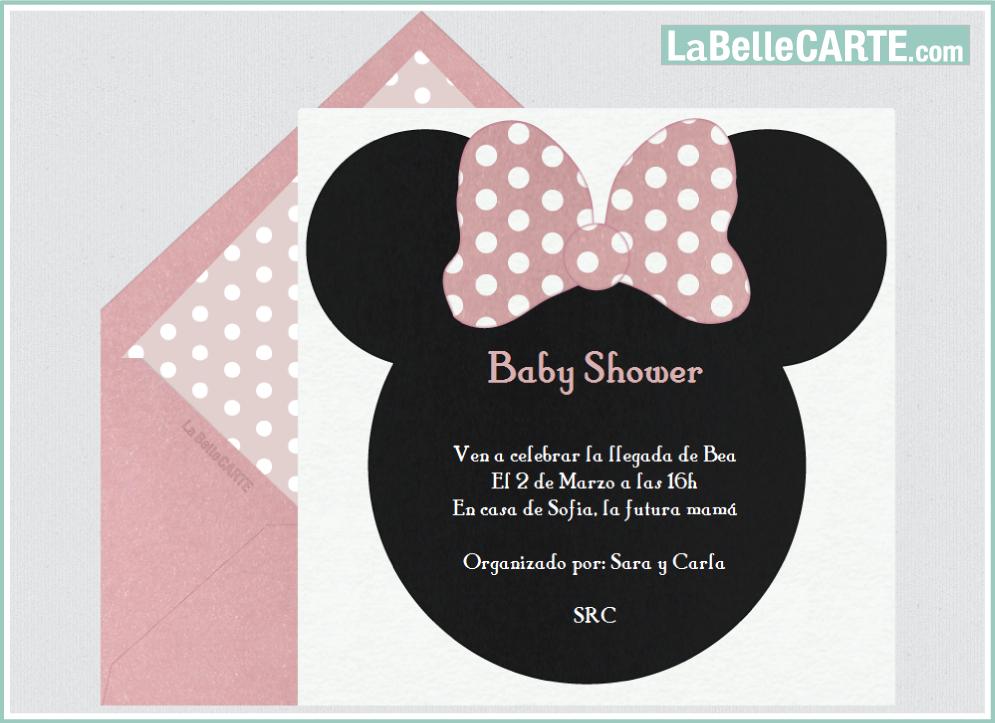 Invitaciones Para Baby Shower Minnie Dibujos Animados