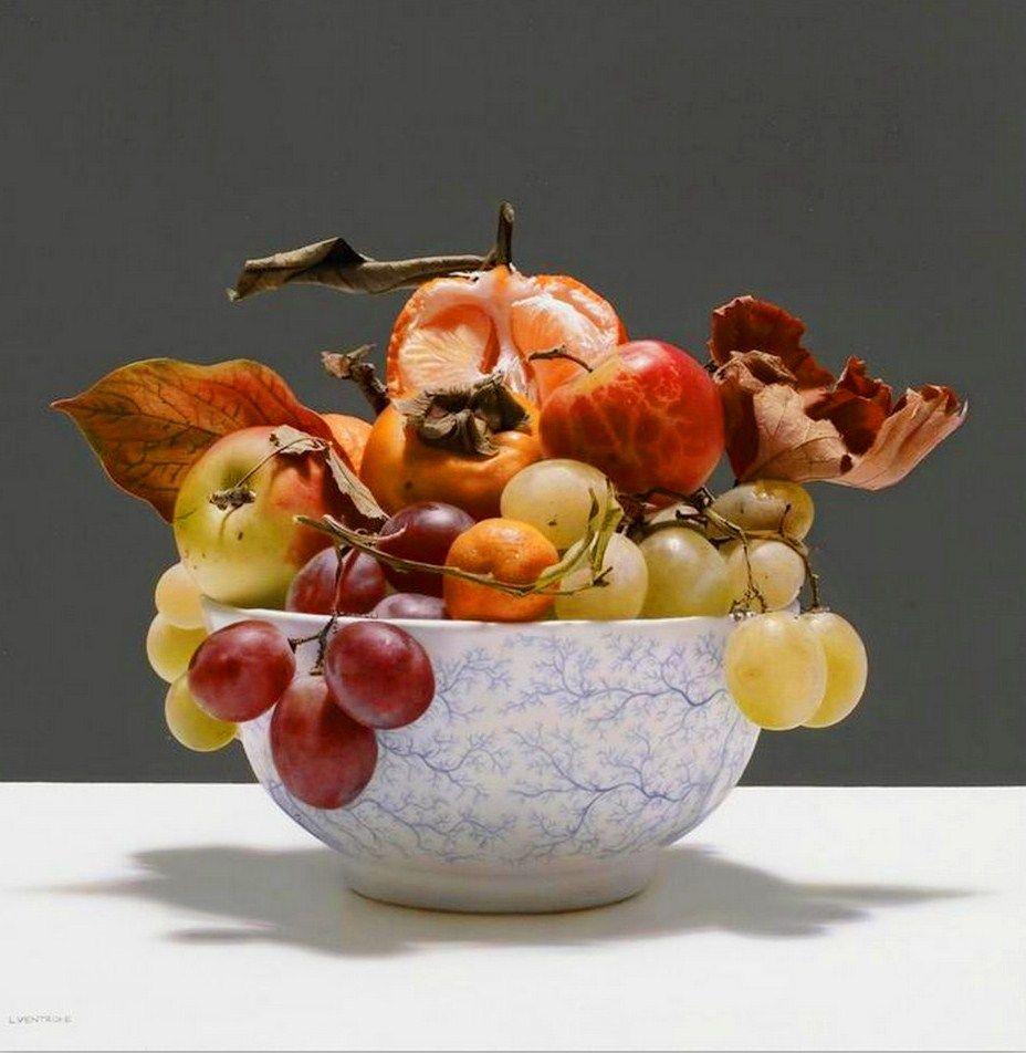 Paisajes y Bodegones: Pintura realista al óleo: Bodegones con frutas