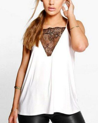 ac405f234db94 Lace splicing strappy cami top deep v neck backless tank tops for fat women